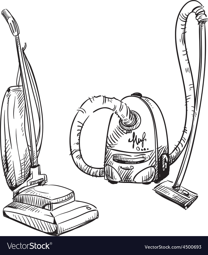 Vacuum cleaners vector