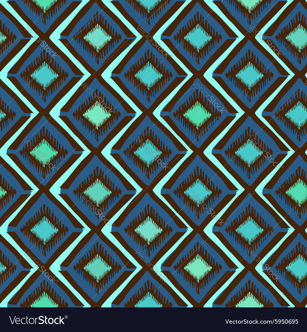 Ethnic tribal geometric seamless pattern vector