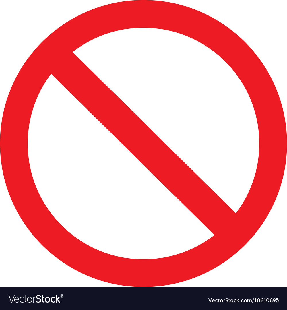 Icon ban with shadow on white background vector
