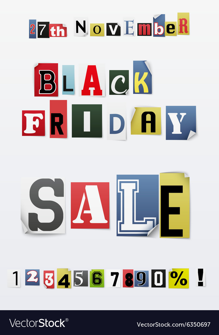 Background of black friday sale vector