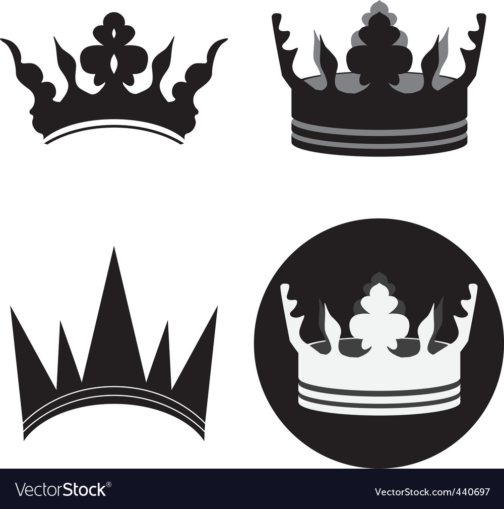 Tiara black 02 vector