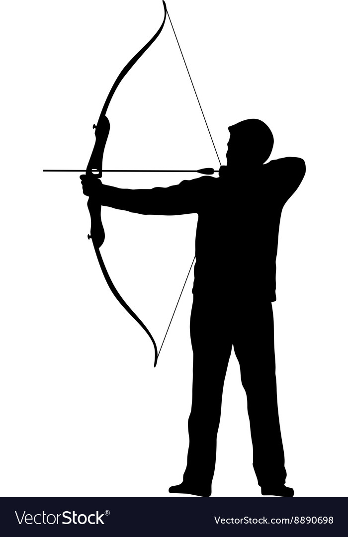 Archer bow arrow vector