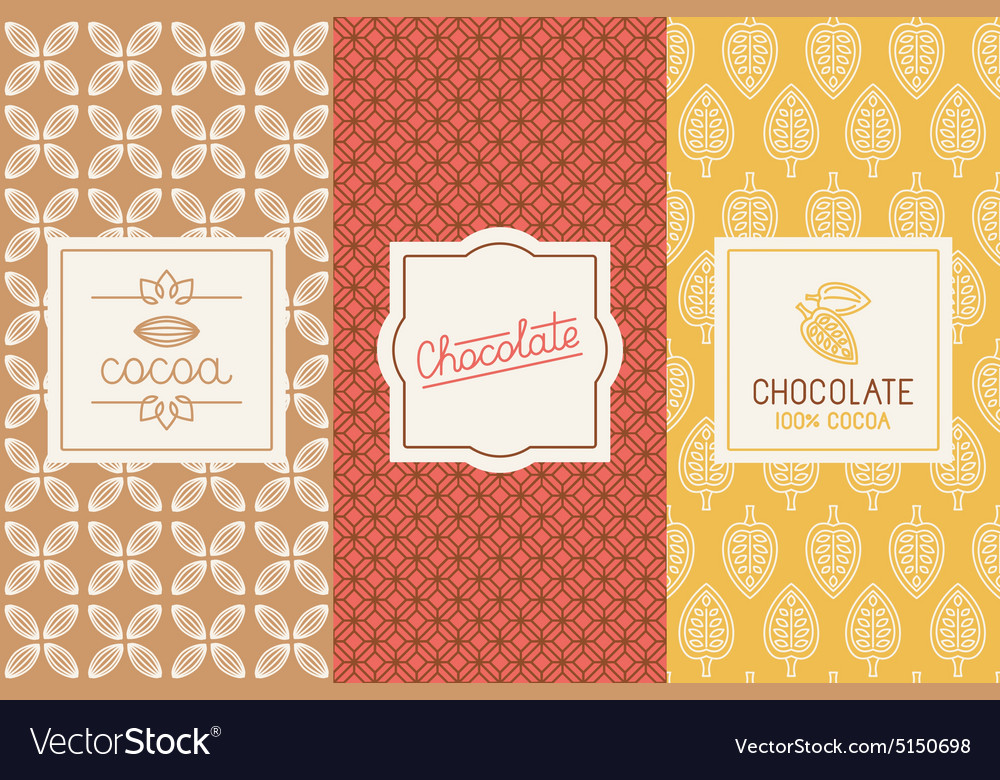 Chocolate and cocoa packaging vector