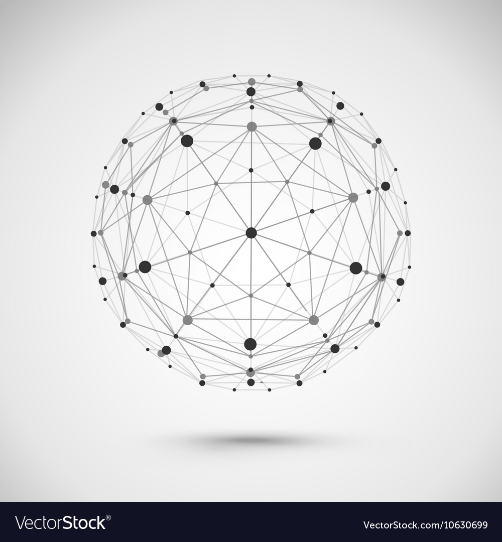 Connect globe or wire sphere icon vector