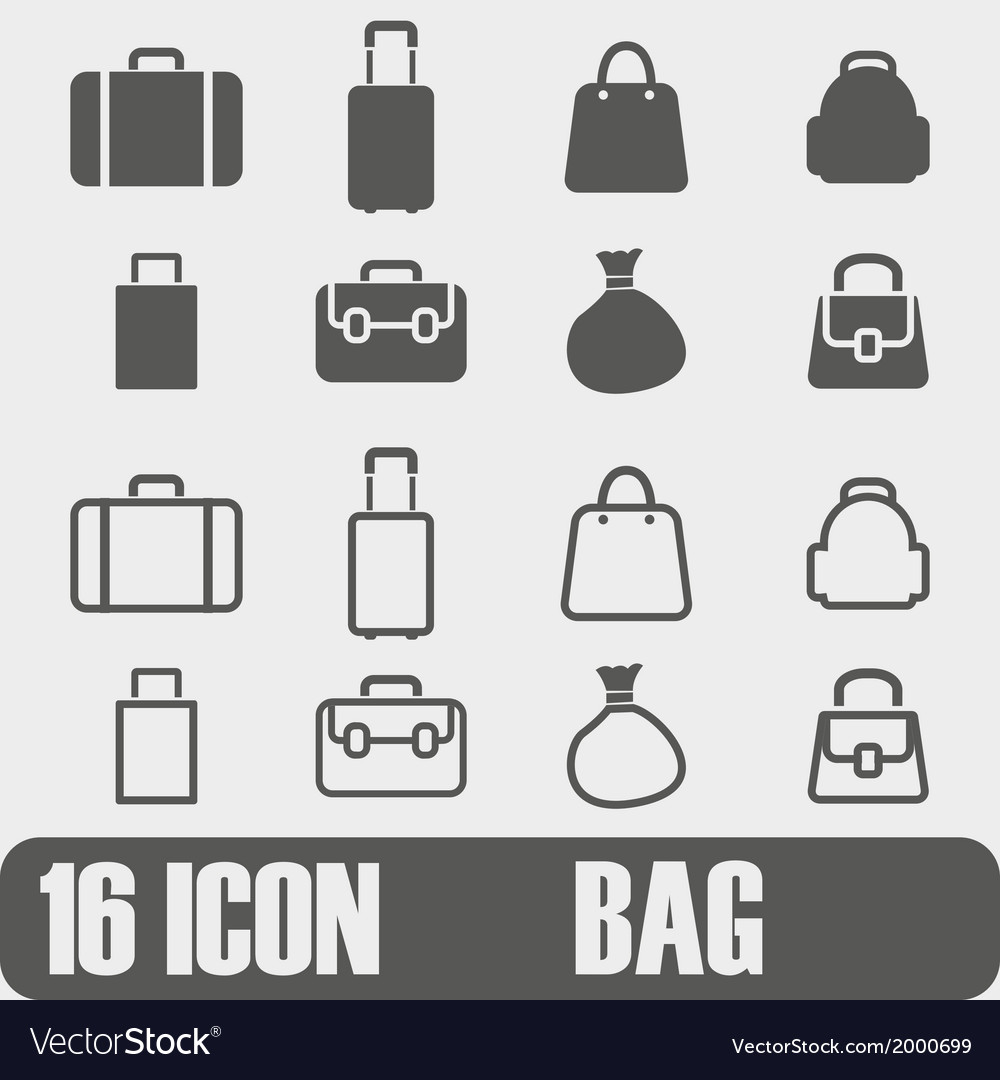 Icon bag on white background vector