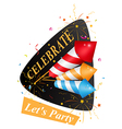 Birthday card with fireworks vector image
