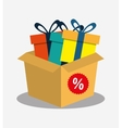 cardboard box gift boxes discount vector image