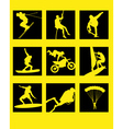 extreme icons vector image vector image