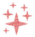 sparkle stars fabric textured icon vector image