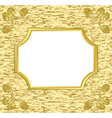 light decorative card with golden frame vector image