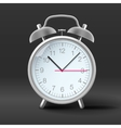Vintage alarm clock on grey background vector image vector image