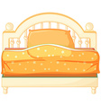A king sized bed vector image vector image