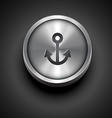 metallic anchor icon vector image
