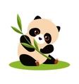 Cute Panda Eating Bamboo vector image