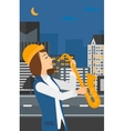 Woman playing saxophone vector image