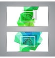 Set of polygonal triangular colorful background vector image