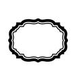 Black frame Beautiful simple design vector image