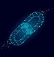 blockchain link sign low poly design internet vector image