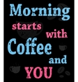 colorful poster with words about coffee vector image