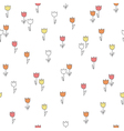 Cute seamless pattern with flowers vector image