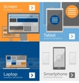 Electronic devices flat design banners vector image