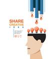 share creative idea concept vector image