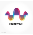 Sound wave symbol logo Colorful gradient vector image