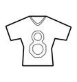 sports shirt vector image