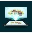 Tablet video projector vector image