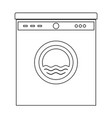 washing machine the black color icon vector image