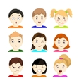 kids with different emotions set 1 vector image vector image
