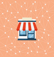 shop store with network background vector image vector image