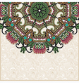 ornate floral card with ornamental circle template vector image vector image