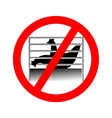 Prohibition sign caging of hen vector image