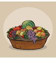 Fruitbasket vector image