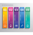 paper tab infographic vector image vector image