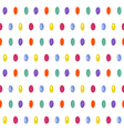 Cute seamless pattern with oval confetti Donut vector image