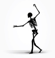 skeleton silhouette in intimidating pose vector image