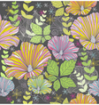 seamless colorful floral pattern vector image vector image