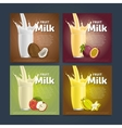 Fruit mix sweet milkshake dessert cocktail vector image