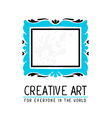blue and black color rectangular frame in vector image