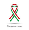 colored ribbon with the hungarian tricolor vector image