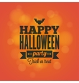 Halloween holiday card design background vector image