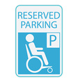 Handicap or wheelchair person icon sign reserved vector image