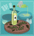 olive oil used for frying food vector image