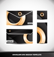 Orange circle envelope design template vector image
