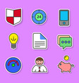 set of colored flat icons for websites and vector image