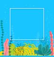 stylish sea bottom background with seaweeds and vector image