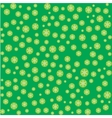 Seamless pattern with snowflakes on green vector image