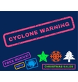 Cyclone Warning Rubber Stamp vector image